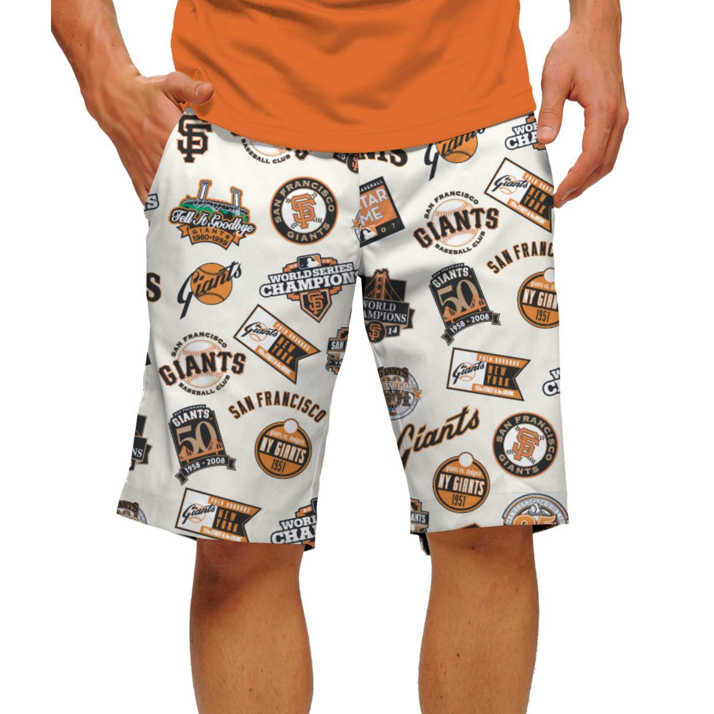 Loudmouth Men's San Francisco Giants Golf Shorts