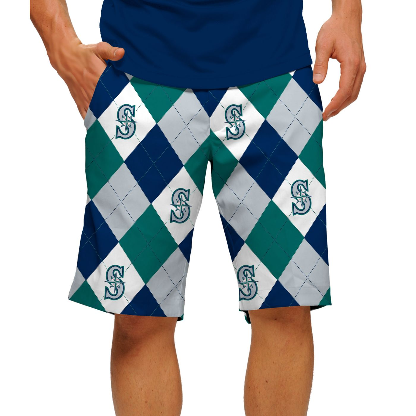 Loudmouth Men's Seattle Mariners Golf Shorts
