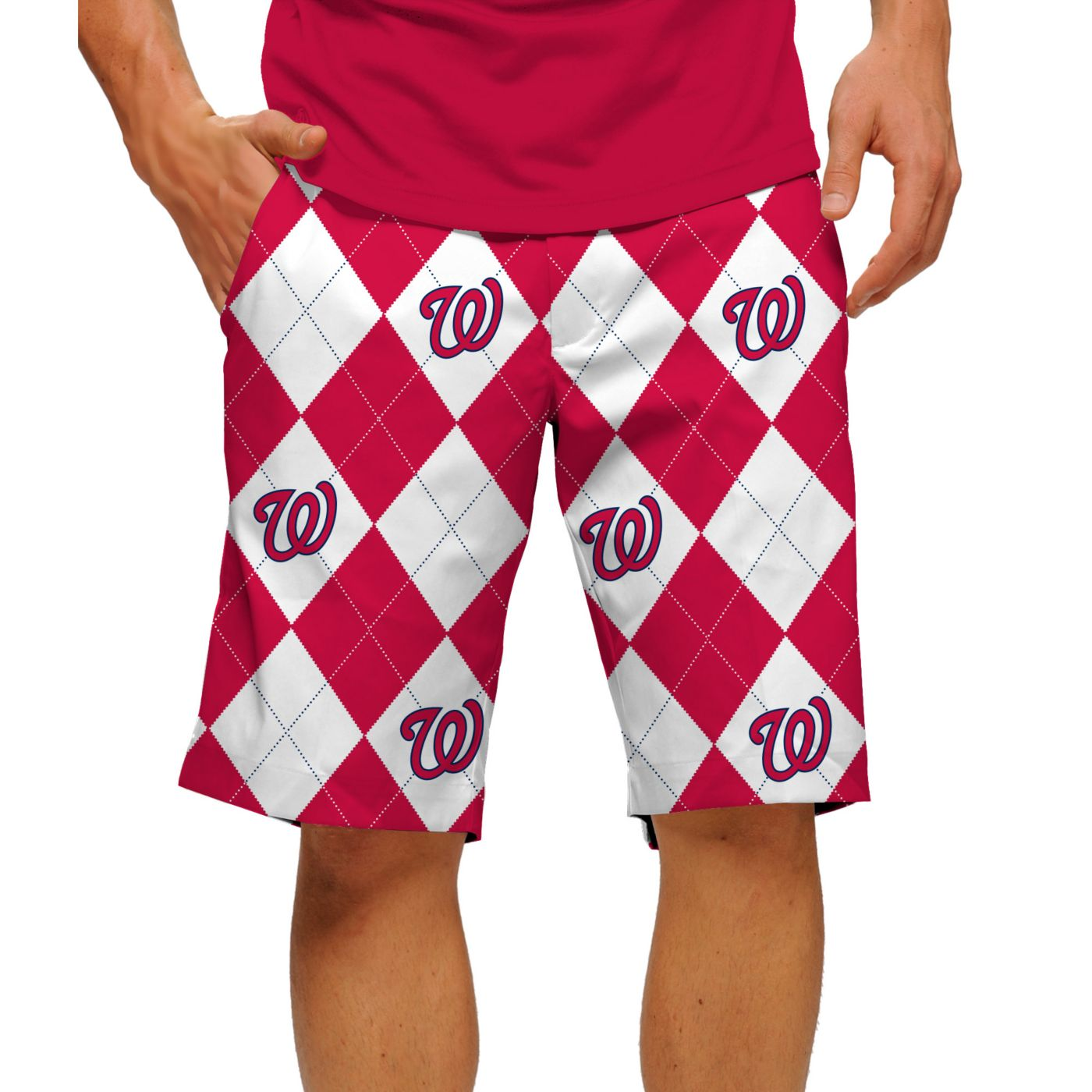 Loudmouth Men's Washington Nationals Golf Shorts