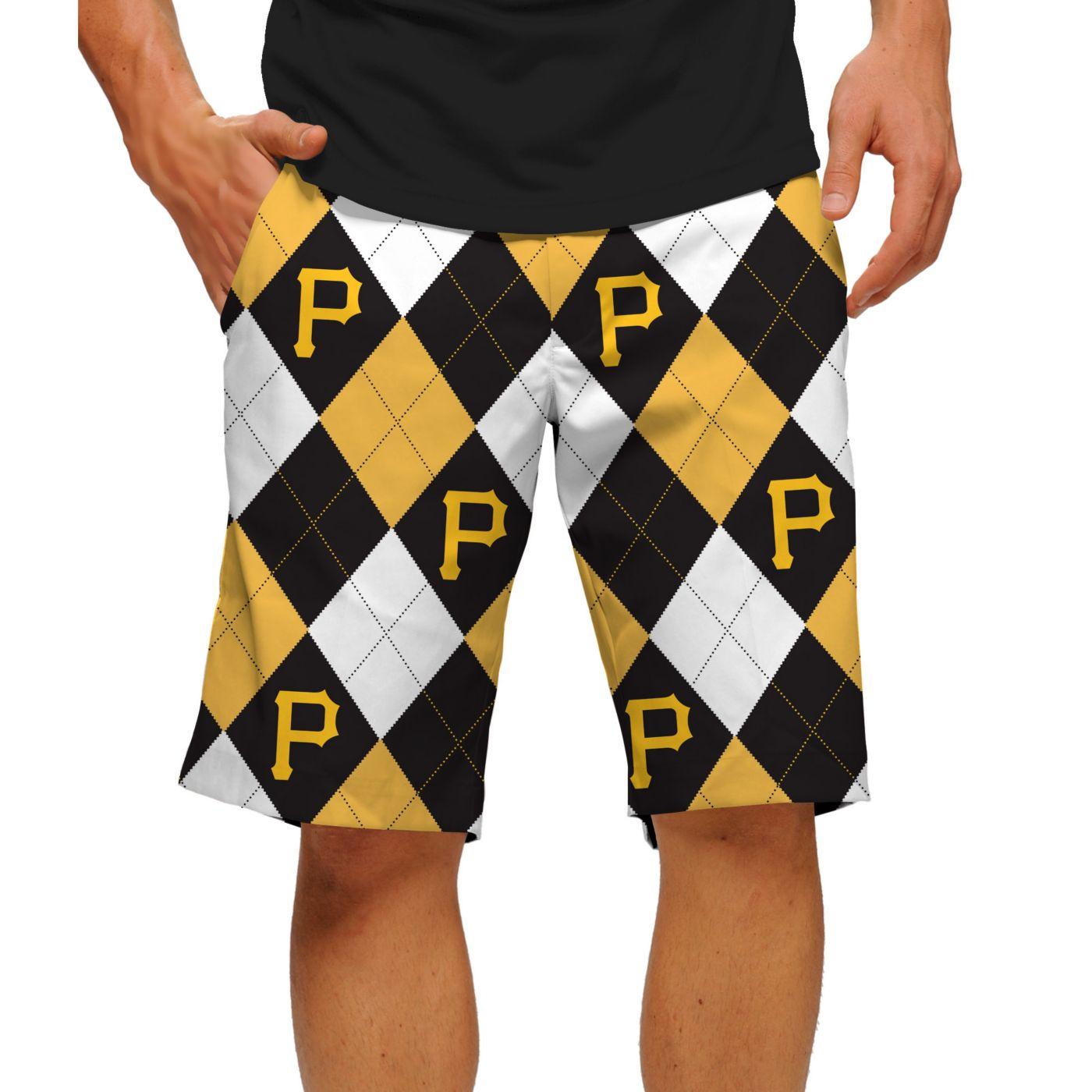 Loudmouth Men's Pittsburgh Pirates Golf Shorts