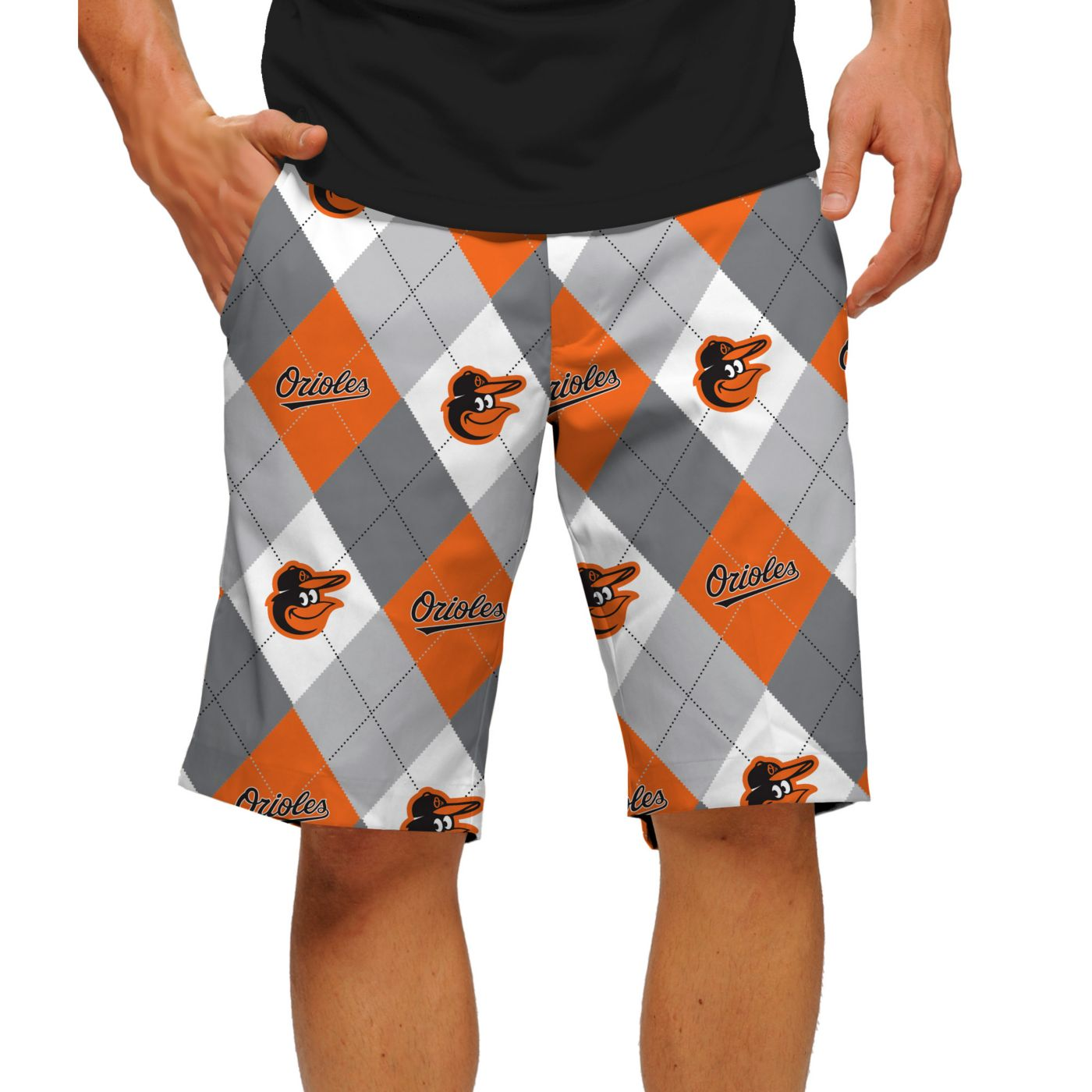 Loudmouth Men's Baltimore Orioles Golf Shorts