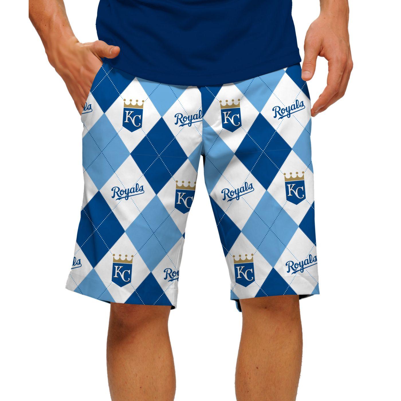 Loudmouth Men's Kansas City Royals Golf Shorts