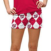 Loudmouth Women's Washington Nationals Golf Mini Shorts