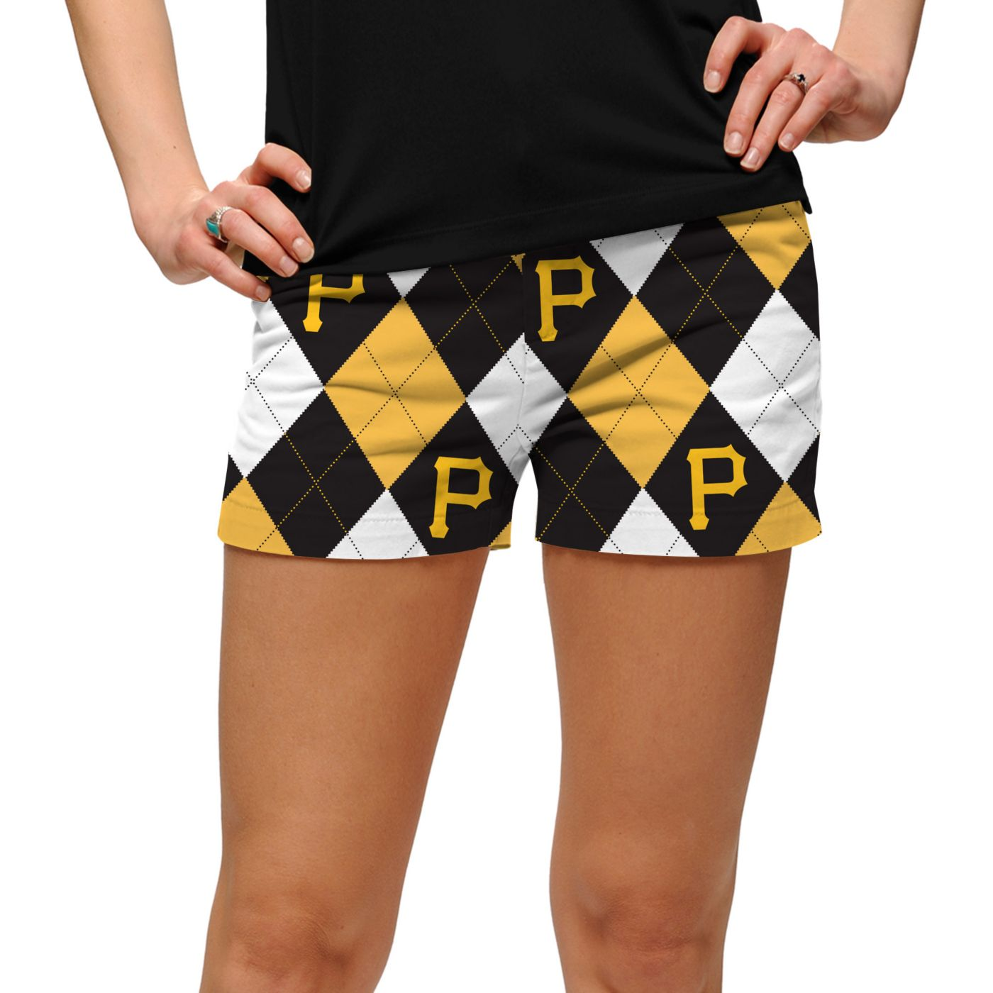 Loudmouth Women's Pittsburgh Pirates Golf Mini Shorts