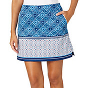 Lady Hagen Women's Central Park Collection Tile Print Golf Skort