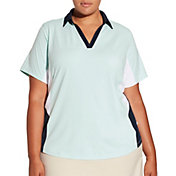 Lady Hagen Women's Georgetown Colorblock Golf Polo – Plus Size