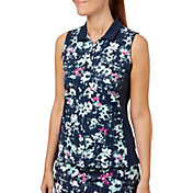 Lady Hagen Women's Georgetown Collection Floral Sleeveless Golf Polo