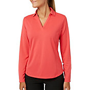 Lady Hagen Women's Solid Long Sleeve Golf Polo