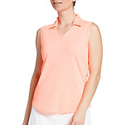 Lady Hagen Women's Solid Sleeveless Golf Polo