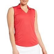 Lady Hagen Women's Solid Sleeveless Golf Polo
