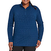 Lady Hagen Women's Space Dye Quarter-Zip - Extended Sizes