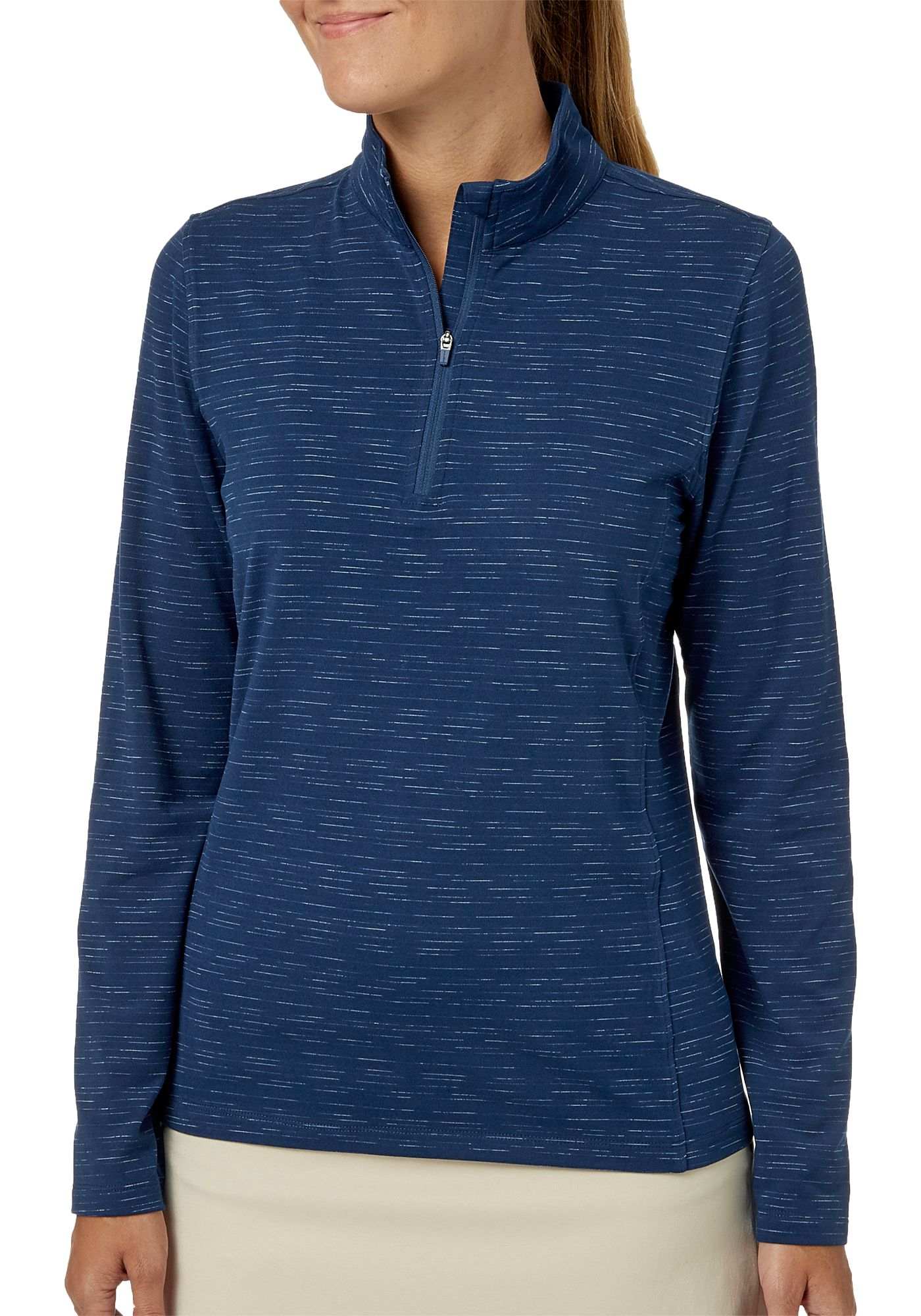 Lady Hagen Women's Space Dye Quarter-Zip