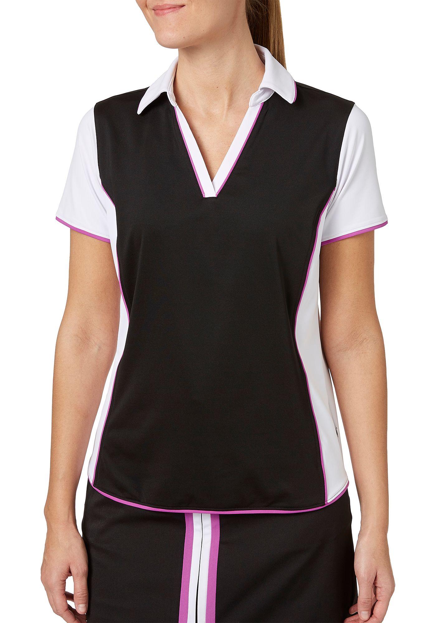 Lady Hagen Women's Twilight Collection Colorblock Short Sleeve Golf Polo