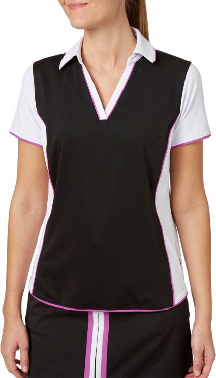 Lady Hagen Women's Twilight Collection Colorblock Short Sleeve Golf Polo