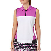 Lady Hagen Women's Twilight Collection Colorblock Sleeveless Golf Polo