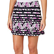 Lady Hagen Women's Twilight Collection Floral Striped Golf Skort - Plus Size