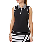 Lady Hagen Women's Twilight Collection Faux Racerback Sleeveless Golf Polo