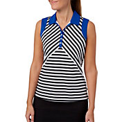 Lady Hagen Women's Winter's Night Collection Print Sleeveless Golf Polo