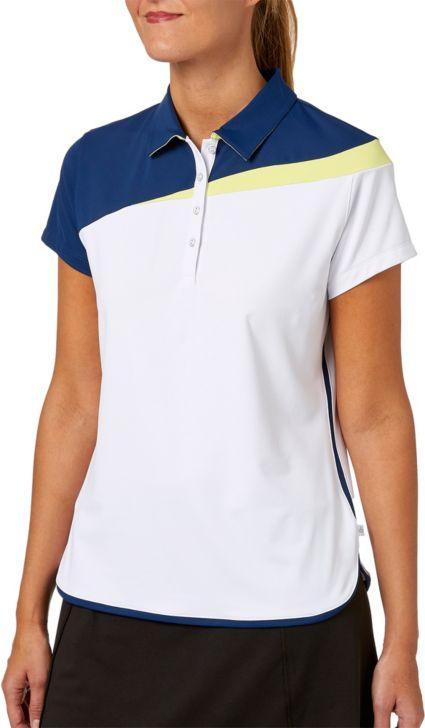 Lady Hagen Women's Watercolor Collection Colorblock Short Sleeve Golf Polo - Plus Size