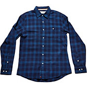 The Normal Brand Men's Indigo Bob Plaid Long Sleeve Shirt