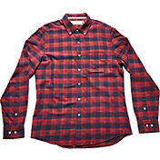 The Normal Brand Men's Space Dyed Indigo Plaid Long Sleeve Shirt