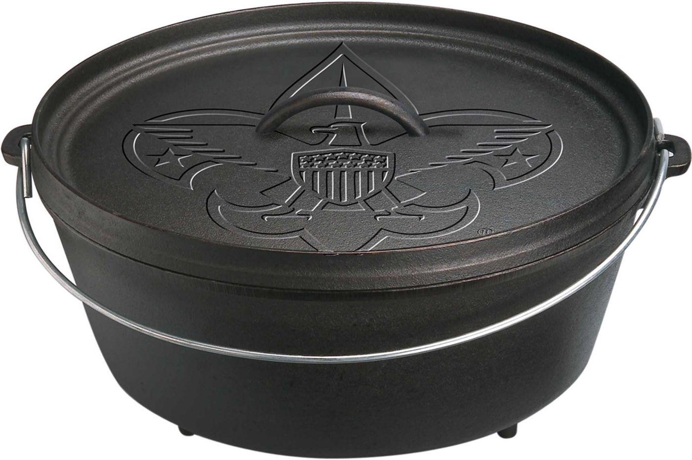 """Lodge 12"""" Boy Scout Cast Iron Dutch Oven"""