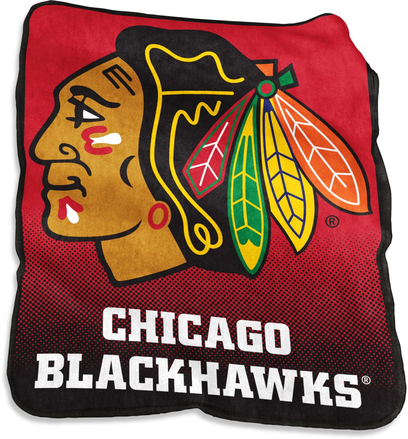 Chicago Blackhawks Raschel Throw