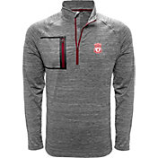 Levelwear Men's Liverpool Vault Logo Heather Grey Quarter-Zip Pullover
