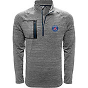 Levelwear Men's Paris Saint-Germain Vault Logo Heather Grey Quarter-Zip Pullover