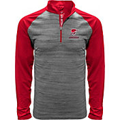 Levelwear Men's San Antonio Commanders Heather Grey/Red Quarter-Zip Pullover