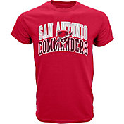 Levelwear Men's San Antonio Commanders Performance Arch Red T-Shirt