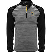 Levelwear Men's San Diego Fleet Heather Grey/Black Quarter-Zip Pullover