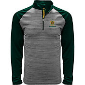 Levelwear Men's Arizona Hotshots Heather Grey/Black Quarter-Zip Pullover