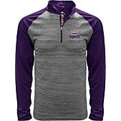 Levelwear Men's Atlanta Legends Heather Grey/Purple Quarter-Zip Pullover