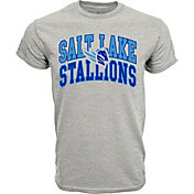 Levelwear Men's Salt Lake Stallions Performance Arch Grey T-Shirt