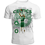 Levelwear Men's Boston Celtics Jayson Tatum Center Court White T-Shirt
