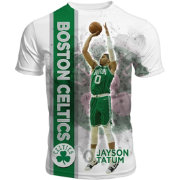 Levelwear Men's Boston Celtics Jayson Tatum Breakaway White T-Shirt