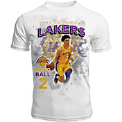 Levelwear Men's Los Angeles Lakers Lonzo Ball Center Court White T-Shirt