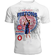 Levelwear Men's Detroit Pistons Andre Drummond Center Court White T-Shirt