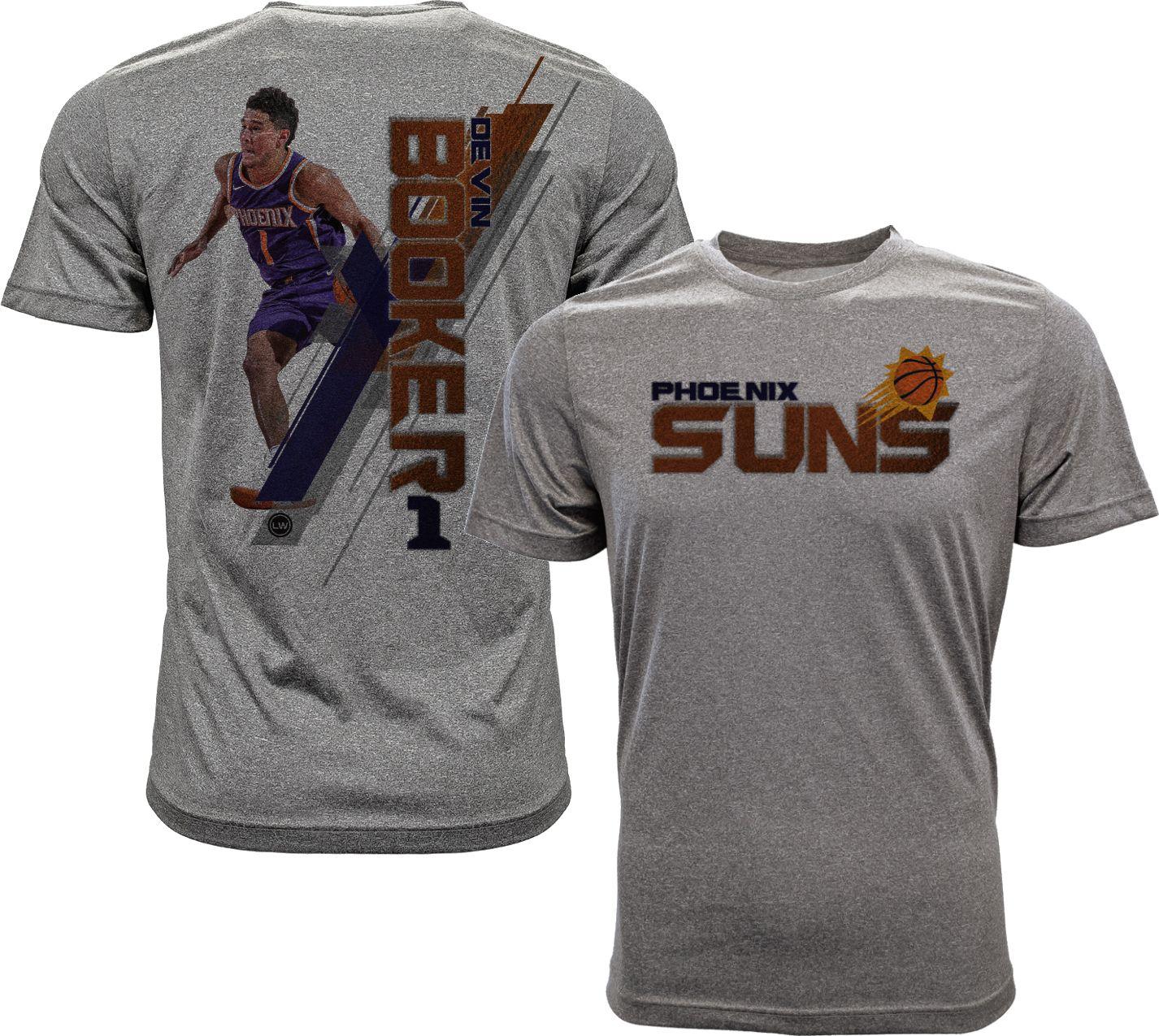 7fac2483d ... get levelwear mens phoenix suns devin booker breakaway grey t shirt  247d2 a1a9c