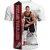 Levelwear Men's Portland Trail Blazers C.J. McCollum Breakaway White T-Shirt