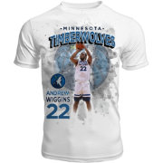 Levelwear Men's Minnesota Timberwolves Andrew Wiggins Center Court White T-Shirt