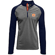 Levelwear Men's Auburn Tigers Grey/Blue Mayhem Quarter-Zip Shirt