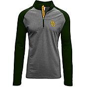 Levelwear Men's Baylor Bears Grey/Green Mayhem Quarter-Zip Shirt