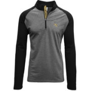 Levelwear Men's UCF Knights Grey/Black Mayhem Quarter-Zip Shirt