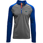 Levelwear Men's Florida Gators Grey/Blue Mayhem Quarter-Zip Shirt