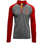 Levelwear Men's Maryland Terrapins Grey/Red Mayhem Quarter-Zip Shirt