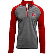 Levelwear Men's NC State Wolfpack Grey/Red Mayhem Quarter-Zip Shirt