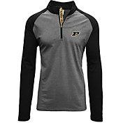 Levelwear Men's Purdue Boilermakers Grey/Black Mayhem Quarter-Zip Shirt