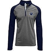 Levelwear Men's Penn State Nittany Lions Grey/Blue Mayhem Quarter-Zip Shirt